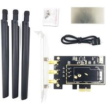 Antenna Pci-E-Converter-Adapter Wifi-Card for Broadcom Bcm94360csax/Bcm943602cs/Bcm94331csax