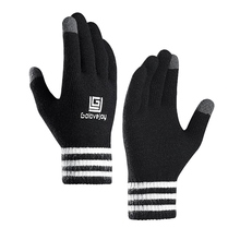 Practical Full Finger Touchscreen Handwear Winter Outdoor MTB Bicycle Cycling Gloves Camping Hiking Knitted Thermal