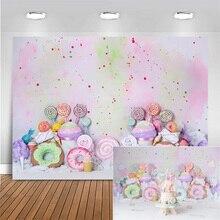 Đồ Sơ Sinh Cho Bé Phông Nền Chụp Ảnh Kẹo Lollipop Bánh Kem Con Sinh Nhật Hình Nền Cho Studio Ảnh