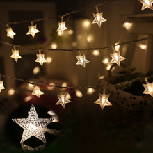 10M 100LED Star String Lights 110V/220V Christmas Garland Outdoor Fairy Lamp For Xmas Tree  Holiday New Year Party Wedding Decor