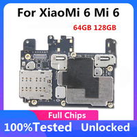 Original 100% Entsperrt Für Xiaomi 6 Mi 6 Motherboard Logic Board 64GB 128GB Mit voller Chips Für Xiaomi 6 Mainboard MB