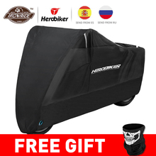 HEROBIKER Waterproof Biker Cover Motorcycle Cover Motorbike Moto Scooter Cover UV Protector Dustproof Motorcycle Raincoat