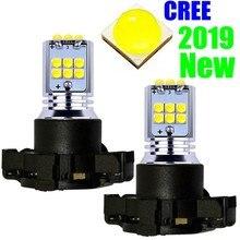 2Pcs 1800LM PY24W 5200s Super Brilhante Lâmpadas LED Auto Luzes Do Carro Sinal de Volta Indicador de Direção Lâmpada Branco Amarelo Âmbar