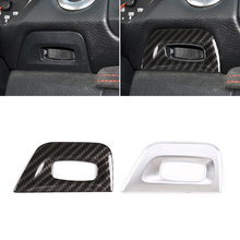 For BMW 1 Series E81 2007 2008 2009 2010 2011 Car Carbon Texture Center Control Ignition Switch Key Hole Cover Frame Trim