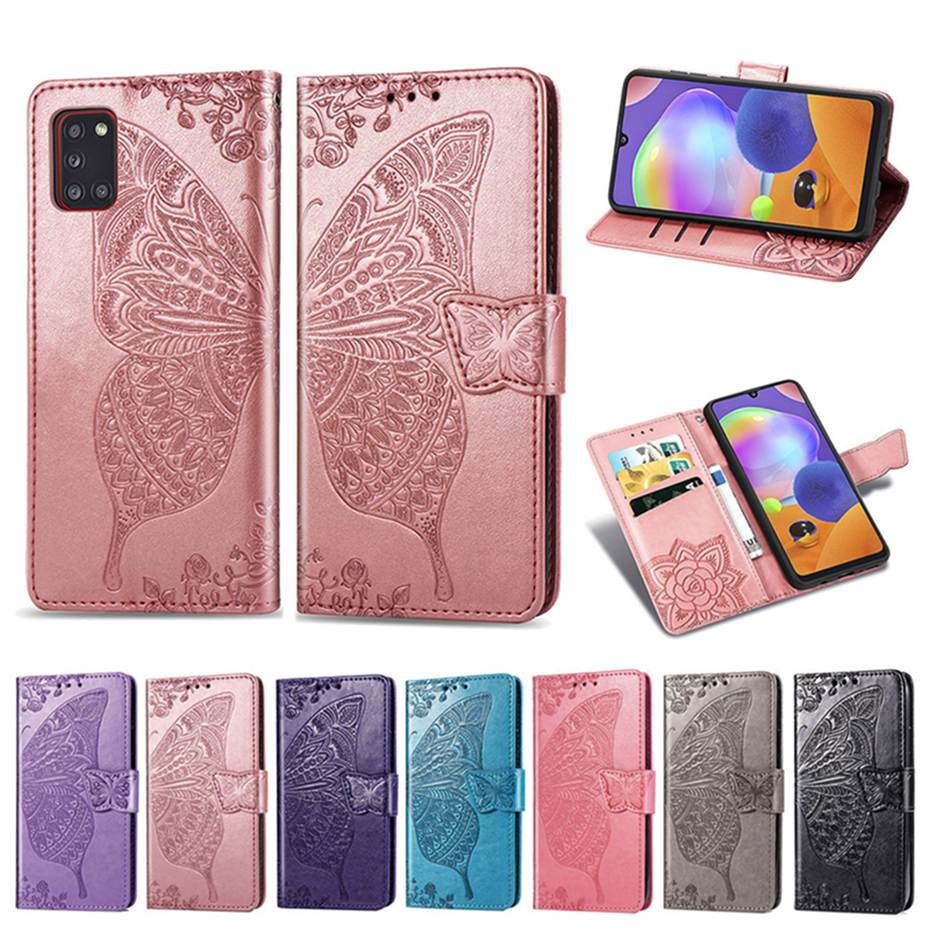 3D Butterfly Flip Case For Samsung Galaxy A31 Case Wallet Leather Phone Case On For Samsung Galaxy A31 A31 A315F A315 Cover