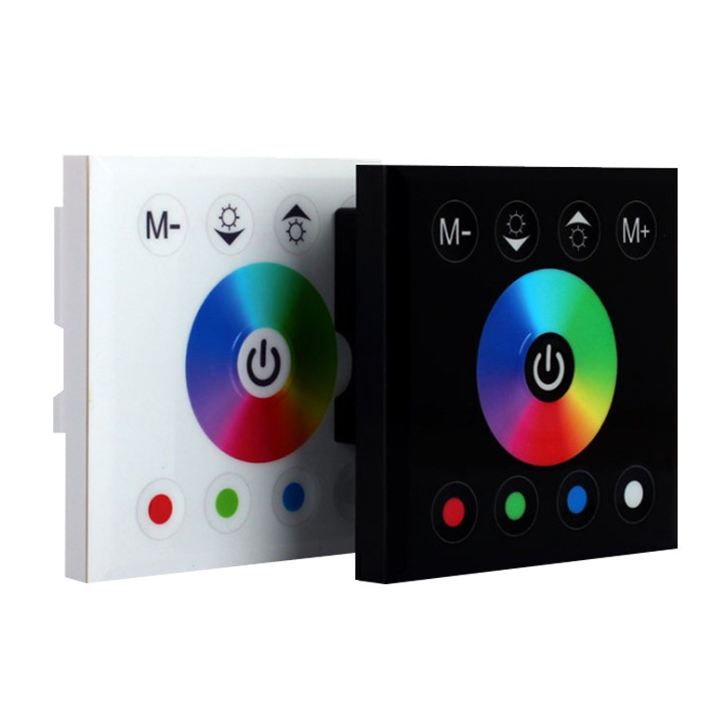 110V High Pressure Touch Panel LED Controller RGB Colorful Light Strip Controller 86 Type Breadboard Dimming Controller