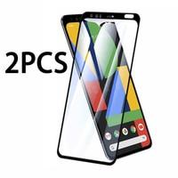 2 stücke gehärtetem glas auf für Google Pixel 4 3A 3 5 4A 2 XL full screen protector Pixel4 Pixel3 pixel2 4xl 3xl 2xl schutzhülle film