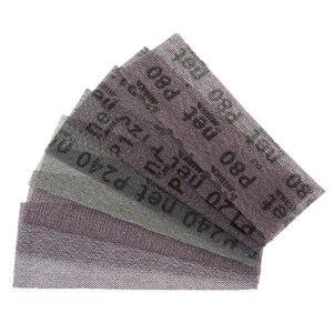 Image 1 - 5 pezzi 198*70mm Mesh senza polvere anti blocco a secco dischi abrasivi a strappo carta abrasiva abrasiva 80 #120 #180 #240 # carta per decorare auto