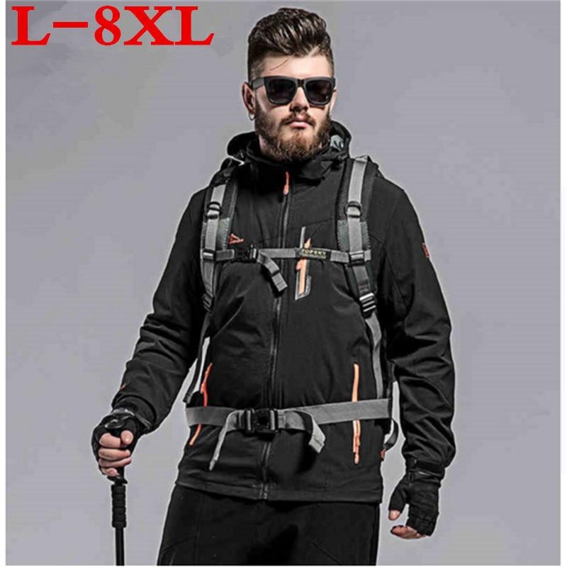 plus size  8XL 7XL 6XL New Men's Casual Jackets Man's Army Waterproof Coats Male Jacket Breathable Windproof Raincoat big size