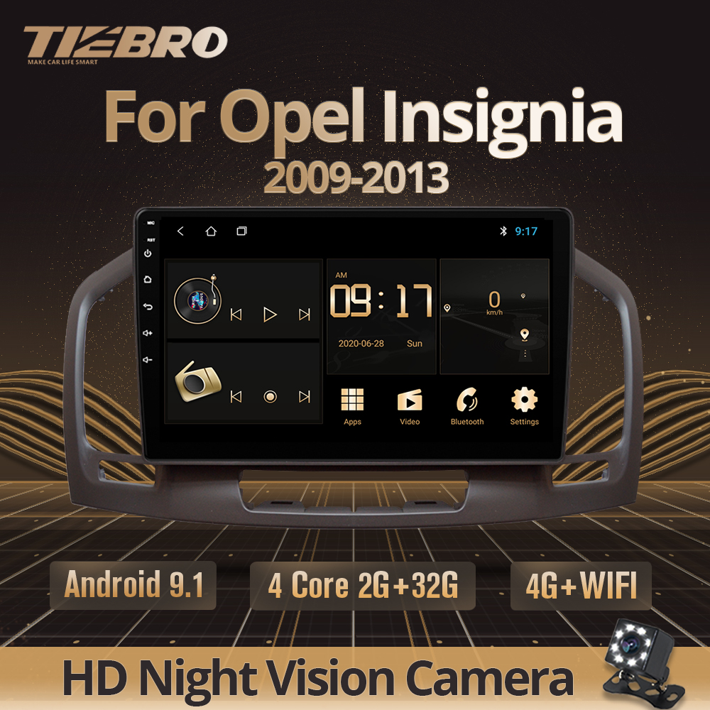 TIEBRO 2din Android 9.0 Car Radio For Buick Regal For Opel Insignia 2009-2013 Car Multimedia Player GPS Navigation DVD Player image