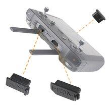 3 pz/set Silicone Spinotti e jack antipolvere per DJI Controller Smart HDMI/USB/Tipo C Interfaccia Spinotti e jack antipolvere Della Copertura per DJI mavic 2 Accessori