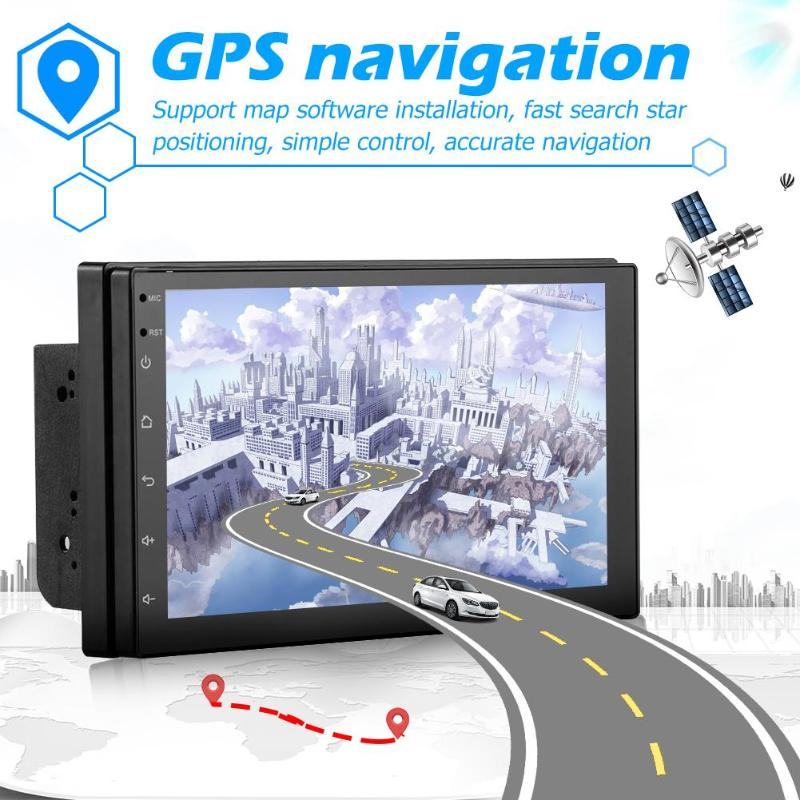 Otomobiller ve Motosikletler'ten Araba Monitörleri'de Android 8.1 Bluetooth Araba Stereo GPS Navigasyon WiFi USB Radyo Alıcısı RCA Ses Çıkışı Bağlanabilir Subwoofer title=