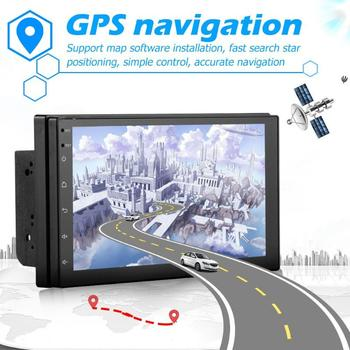 Android 8.1 Bluetooth Car Stereo GPS Navigation WiFi USB Radio Receiver RCA Audio Output Can Connect to Subwoofer