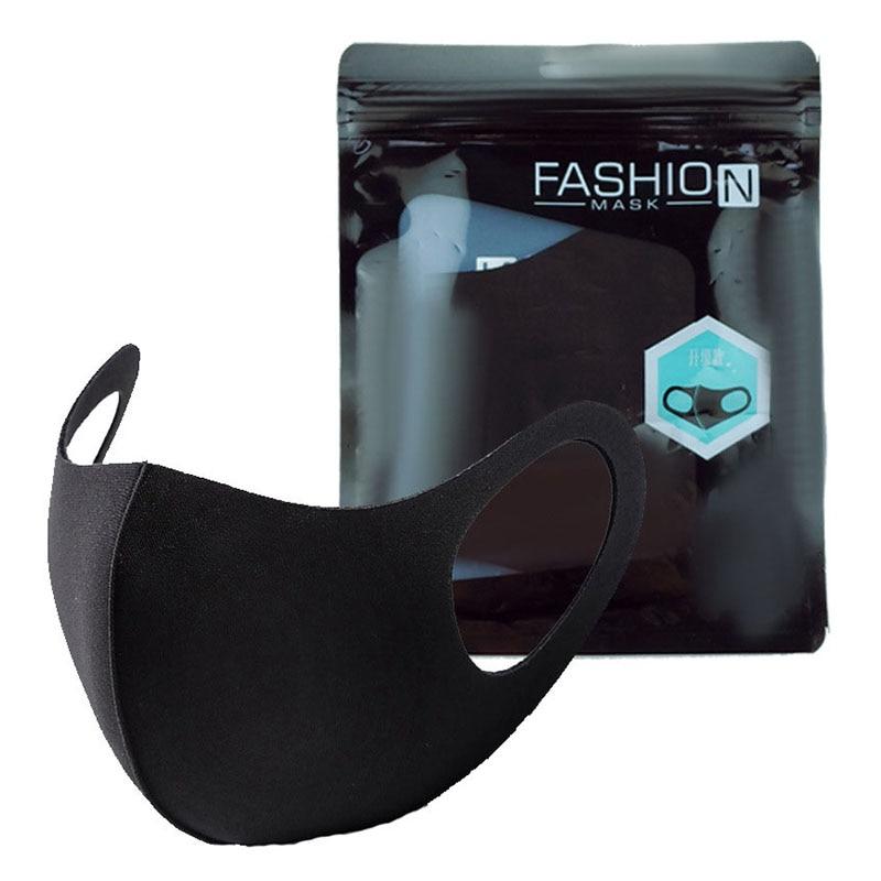 Men Women Black Mouth Mask Washable Dustproof Reusable Anti-Pollen Non-disposable Breathable Protective Face Mask Anti-PM2.5