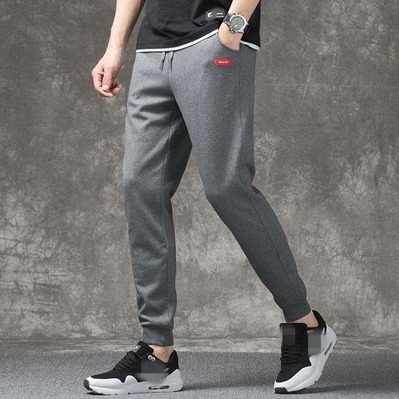 Fashion New Casual Korean Male Full Length Sweatpants Drawstring Waist Joggers Men Plus Size M-4XL Moletom Masculino Streetwear