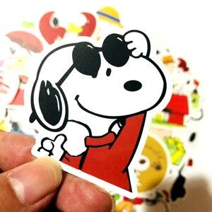 Image 5 - 100 adet karikatür Snoopy çıkartmalar dizüstü kaykay bagaj çıkartması ofis oyuncak aletleri netbook su geçirmez çıkartmalar