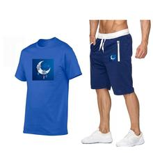 Adolescent boys suits summer short-sleeved round neck fifth men's sports suit