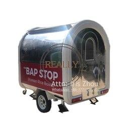 Dopuszczenie ce foodtruck wózek do przewozu żywności komórkowy przyczepa do przewozu żywności
