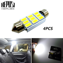 4x FESTOON 31mm 36mm 39mm 41mm Car LED Bulb C5W C10W CANBUS NO ERROR Dome Light Auto Interior Lamp 12V white Styling
