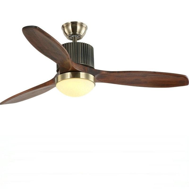 New LED Ceiling Fan For Living Room 220V Wooden Ceiling Fans With Lights 52 Inch Blades Cooling Fan Remote Fan Lamp|Ceiling Fans| |  - title=
