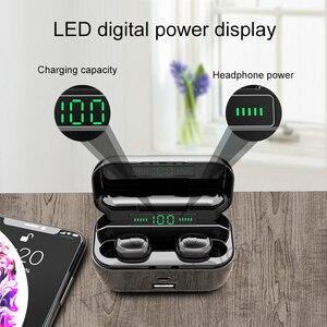 Image 4 - G6s Bluetooth 5.0 auricolare 8D auricolari Wireless Stereo Mini impermeabili con cuffia da 2200mAh Power Bank