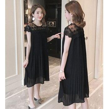 Sleeveless Lace Maternity Dress 2
