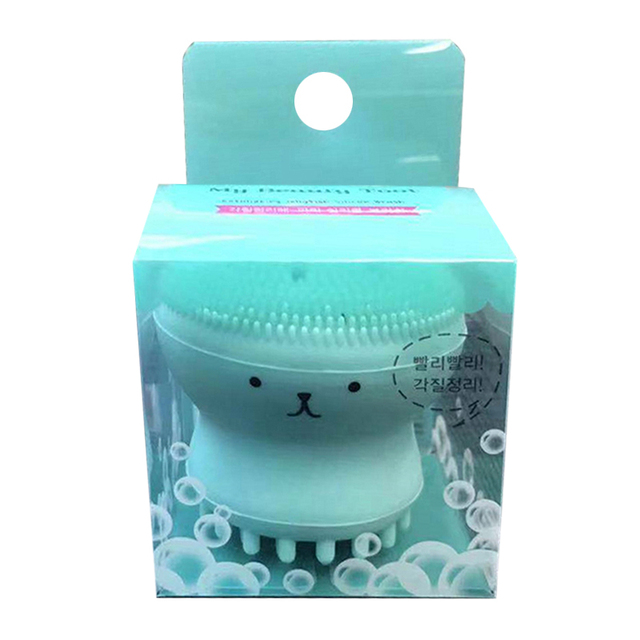 Facial Cleansing Brush Sonic Vibration Mini Face Cleaner Silicone Beauty Washing Pad Facial Care Gel Deep Pore Cleansing Skin