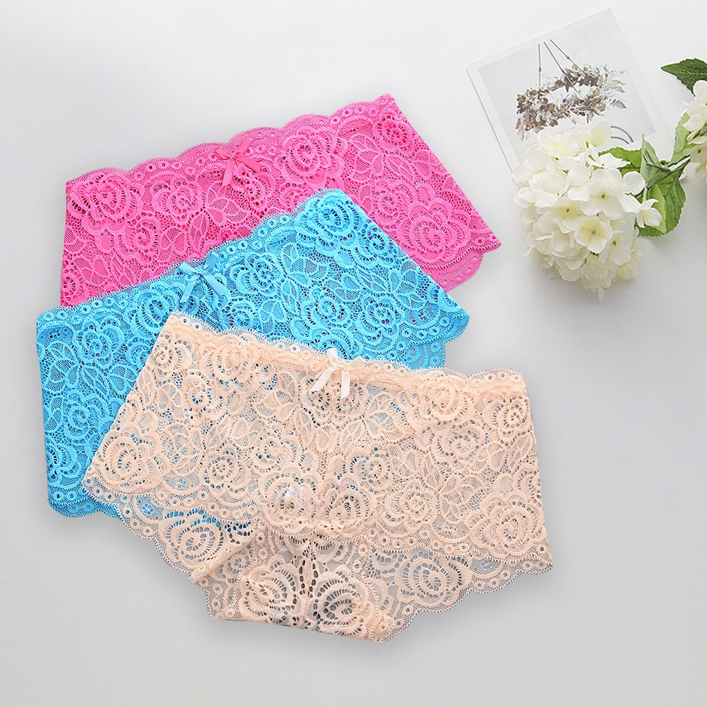 Sexy Lace Panties Underwear Woman Thong G-String Pcs T-back Female Underwear For Woman Sexy Lace Thongs Panties For Woman 2020