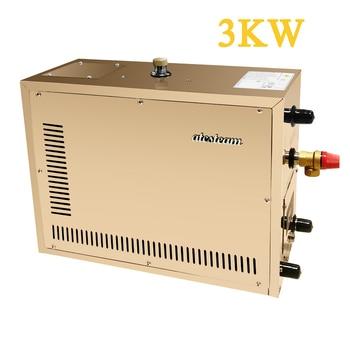 Generador de vapor automático de acero inoxidable de 3 kW, máquina de Sauna de vapor para el hogar, controlador Digital para la sala de Spa