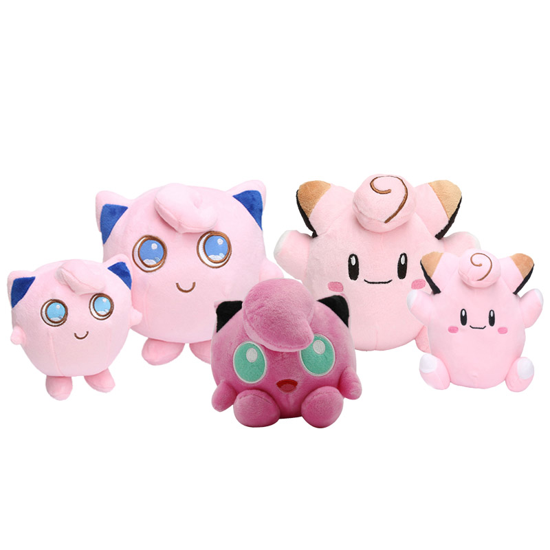 11-32CM Jigglypuff&Clefairy Plush Toys Cute Stuffed Toy Doll For Kids Birthday Christmas Gift