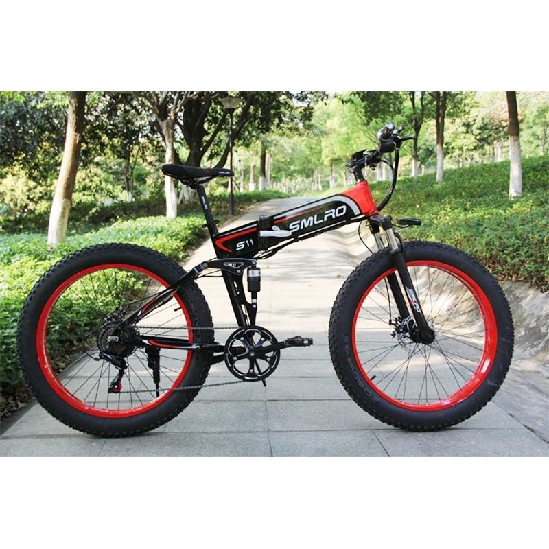 s11F 26inch Wheel snow electric bicycle 350W/500W Aluminum alloy Folding Suspension Frame electric bike e bike 4
