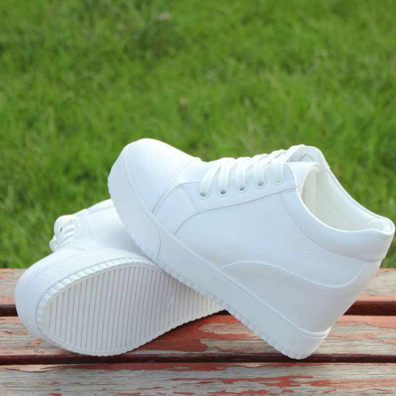 לבן נסתר טריז עקבים החלקה סניקרס אופנה אישה גבוהה פלטפורמת נעלי נעלי נשים טריזי נעלי 2020 טניס נעלי 35 -40