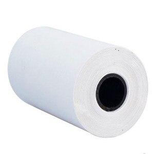 3 рулона/лот печать наклеек бумага белая прямая термальная бумага 7,5 м самоклеящаяся 57x30 мм портативный Bluetooth карманный принтер