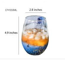 2PCS/Lot 500ML Crystal Glass Cups Heat-resistant Star Sky Cup Glassware Drinking Glasses for Water Juice Beer Wine Bar Tumblers