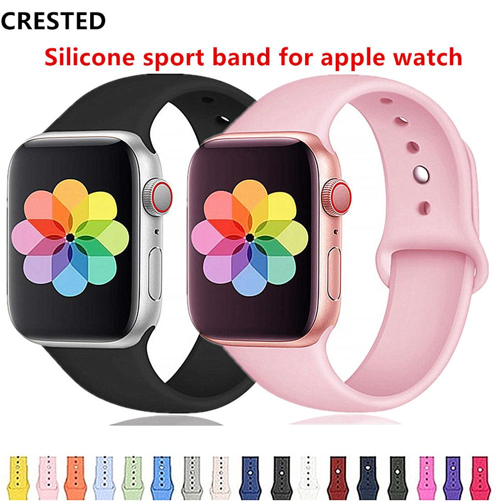 Silicone Strap For Apple Watch Band Apple Watch 5 4 3 Band 44mm/40mm Iwatch Band 5 42mm 38mm Correa Bracelet Watch Accessories