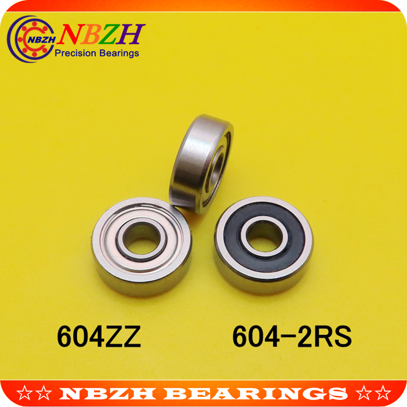 Factory direct sale 604Z <font><b>604ZZ</b></font> 604-2RS S604ZZ S604-2RS R1240ZZ 80014 4*12*4 mm High quality miniature deep groove ball bearing image