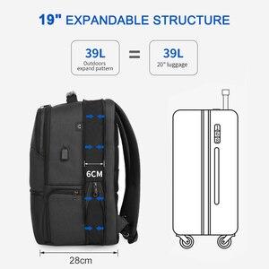 Image 2 - Tigernu New Man Backpack Waterproof Anti Theif Bagpack USB Recharging Multi layer Space Male Bag RFID Lining Travel Backpack