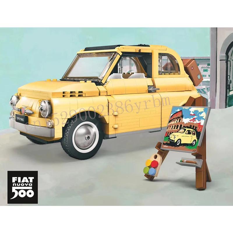 960pcs Building Blocks Lepining 10271 FIATed 500 City Car Creator Series Model Children Kids Christmas Gift Toys