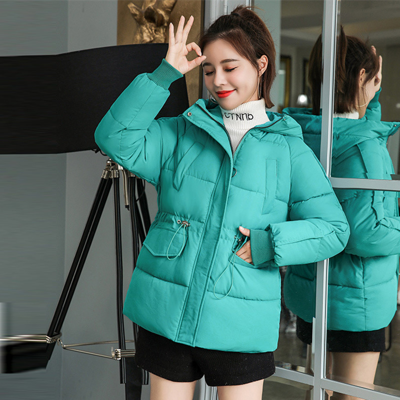 Winter Hooded Warm Coats Women Casual Jackets New Fashion Korean Style Thick Cotton Parkas Female Outerwear Coats <font><b>P250</b></font> image