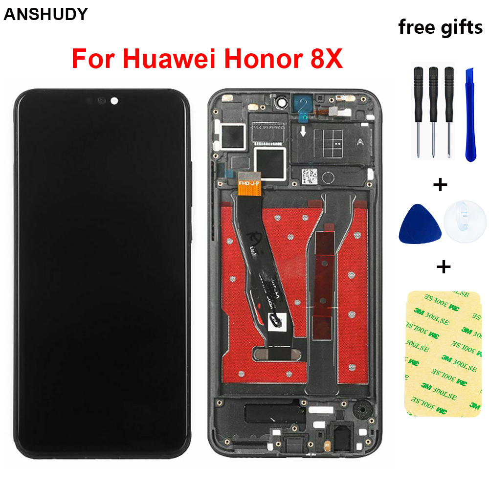 6.5 inch For Huawei <font><b>Honor</b></font> <font><b>8X</b></font> <font><b>LCD</b></font> Touch Screen JSN-AL00 -L22 Digitizer Assembly For Honor8X Display With Frame Tools Replacement image