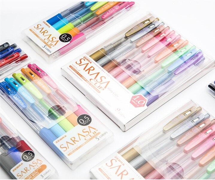 1 Set Zebra JJ15 Colour Gel Pen Milk/Fluorescence/Vintage/Metallic Color 0.5/0.7/1.0mm JJ75 Three-color Office School Supplies