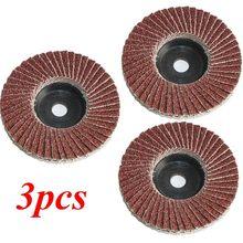 Disques à lamelles plates de 75mm, 3 pouces, pour meuleuse d'angle, grain 80, lames pour la coupe du bois, 3 pièces