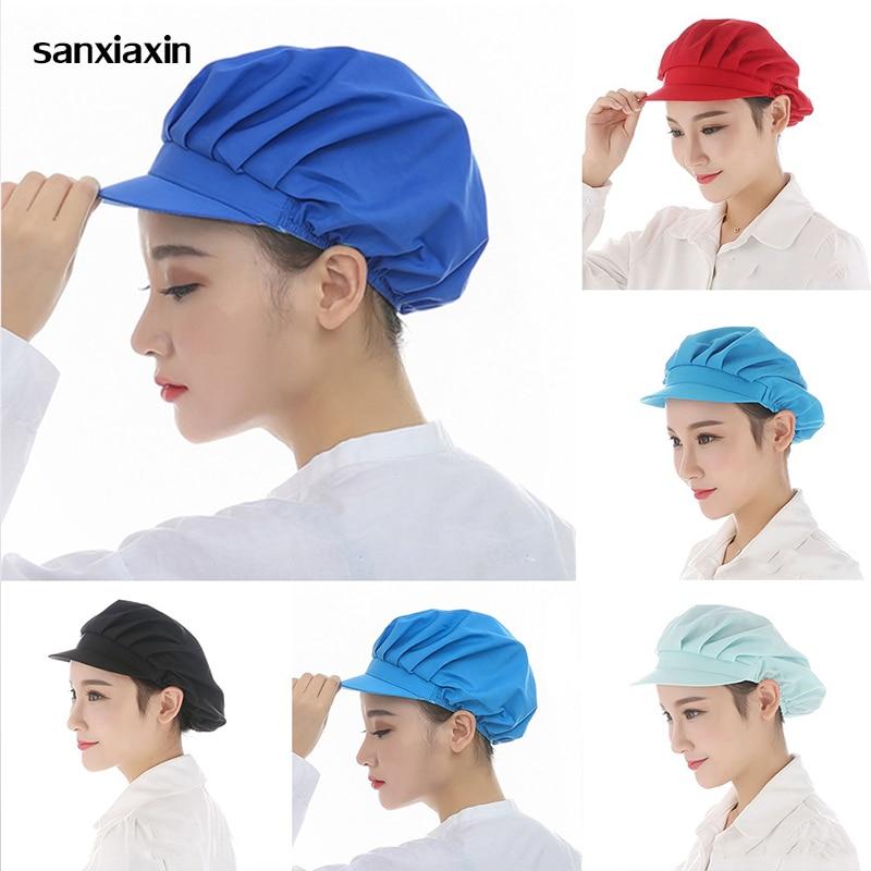 New Chef Hat Restaurants Accessories Dustproof Cooking Cap Breathable Hotel Cook Cap Work Uniform Elastic Kitchen Hat Waitress