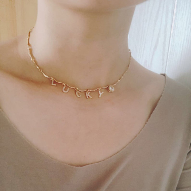 Zircon Custom Name Necklace