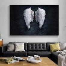Аниме «Крылья Ангела» wall art Печать на холсте Ангел перо дорожный