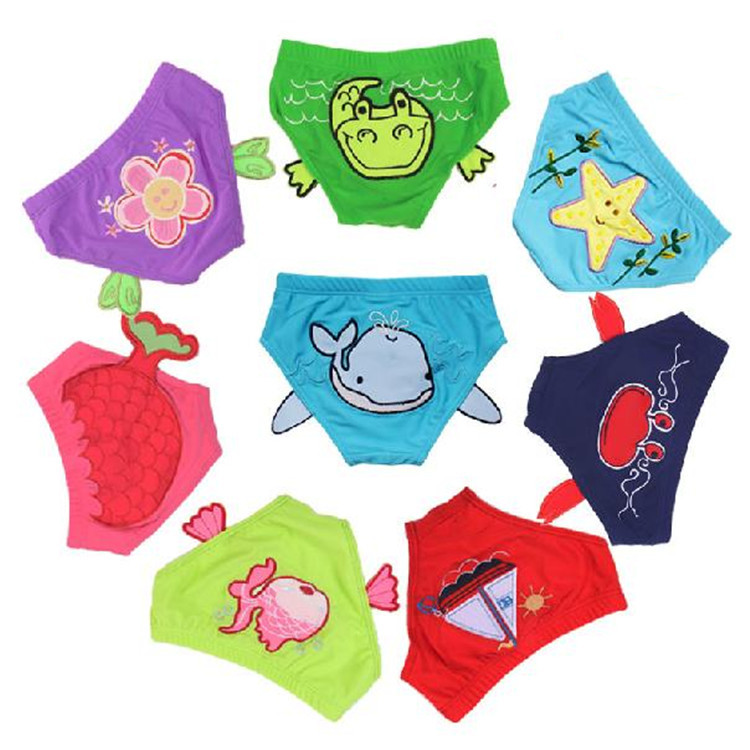 Children Swimming Trunks Baby Men And Women Children Cartoon Swimming Suit Mini Infant Kids Embroidery Super Elastic Soft Swimmi