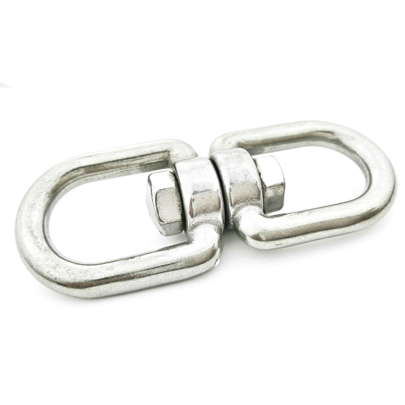 5PCS 304 Stainless Steel Universal Rotating Ring 8 Word Swivel Chain Buckle Universal Ring Dog Chain Connecting Ring M4-M12