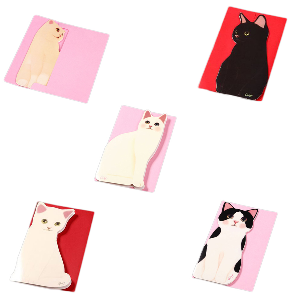1 PCS Cute Kitten Stereo Card Individual Usable Supplies Folding Greeting Cards