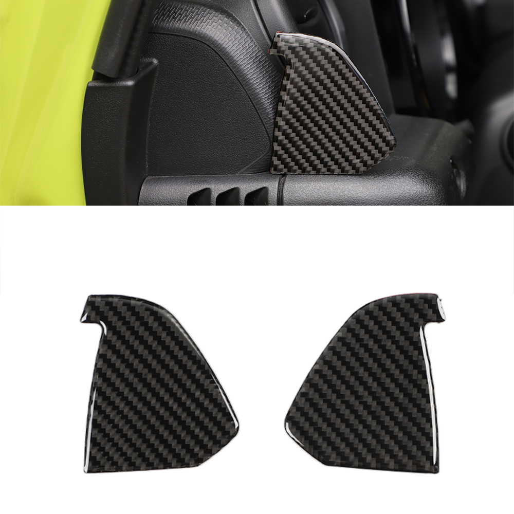 For Suzuki Jimny 2019+ Center Console Side Air Outlet Decorative Stickers Car Interior Accessories Car Styling Soft Carbon Fiber