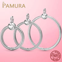 HOT Sale 925 Sterling Silver O Pendant fit Original Pamura Necklace DIY Charm Beads Jewelry Gift